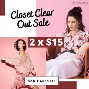 🚨Closet Clear Out Sale 2 x $15 🛍✨
